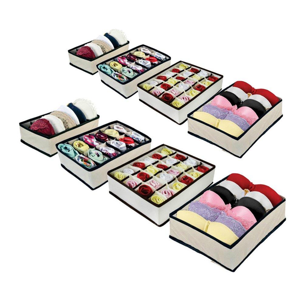 Kit Organizador de Gavetas (calcinhas, sutiãs, meias) com 8 peças  - Shop Ud
