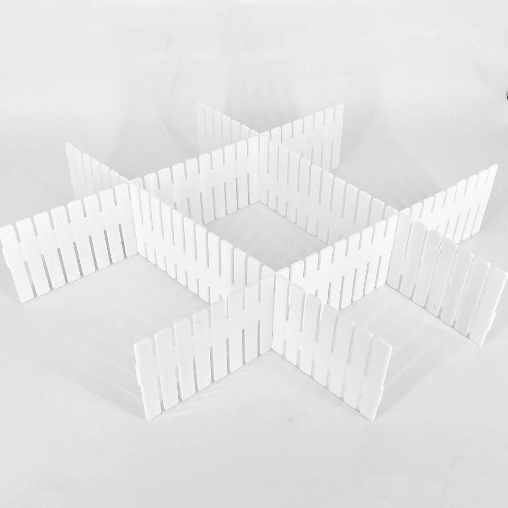 Divisórias De Gavetas Multiuso Com 04 Tiras - Branco