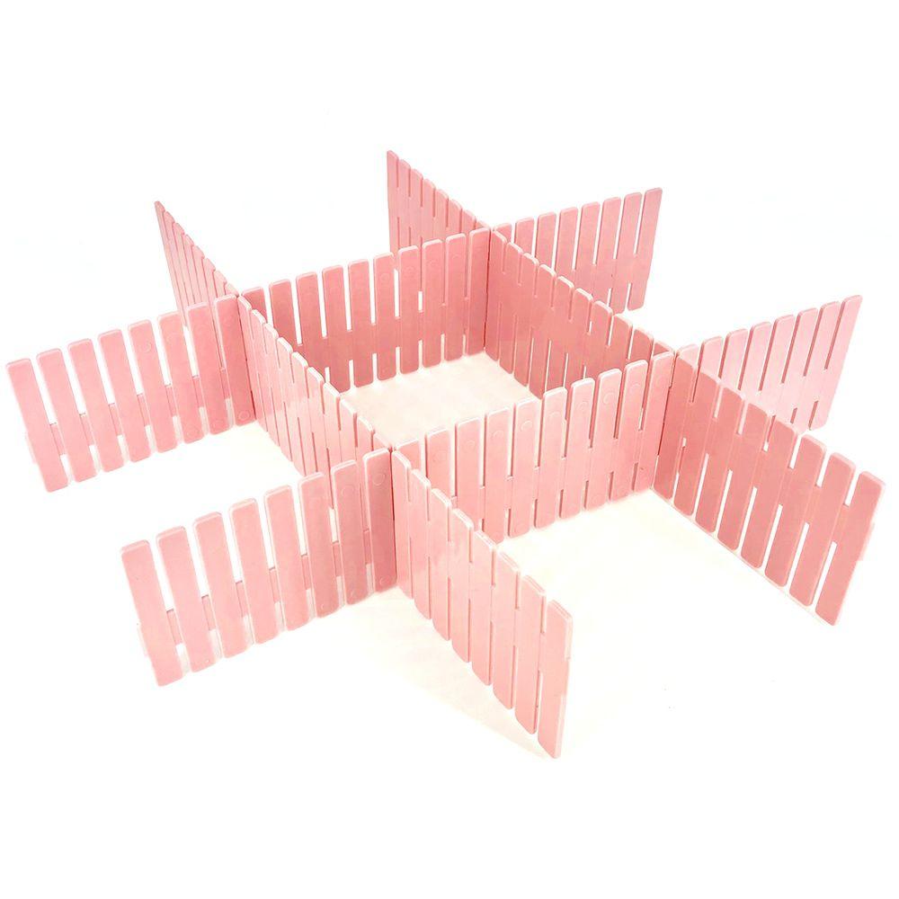 Divisória De Gavetas Multiuso Com 04 Tiras - Rosa