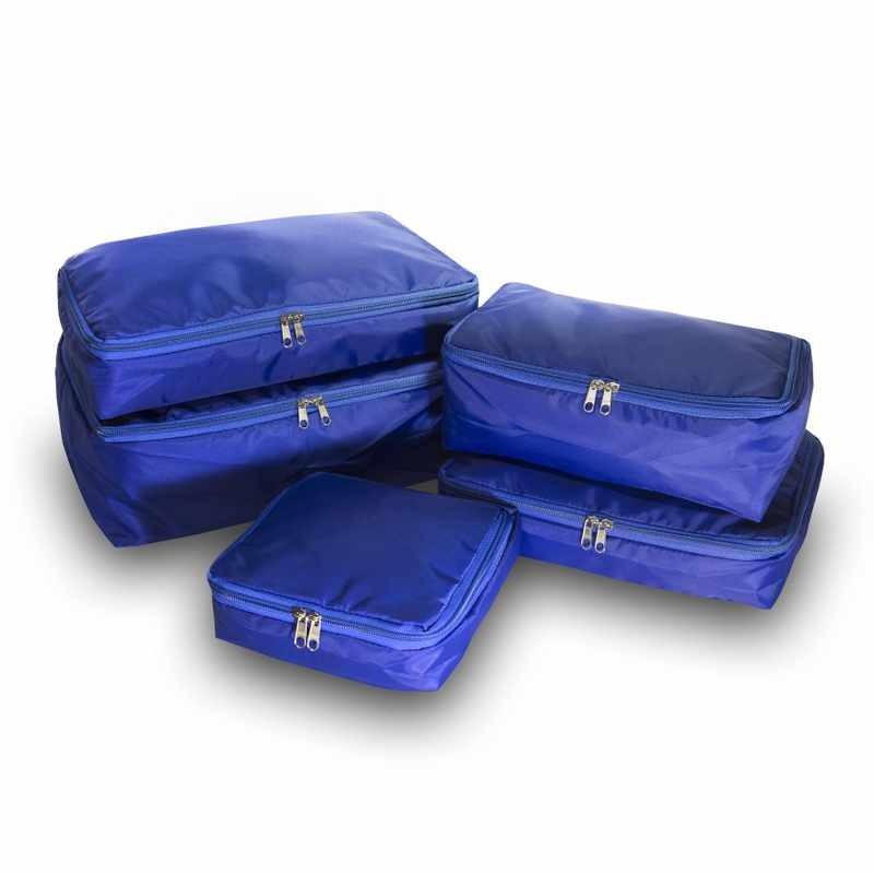 Organizador de malas VB Home Azul com 5 peças