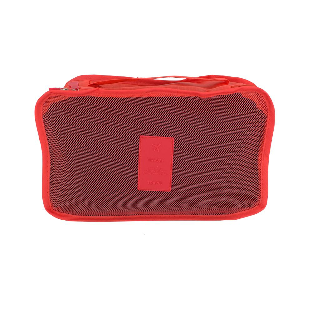 Kit Organizador de Viagem com 04 Peças - Coral  - Shop Ud
