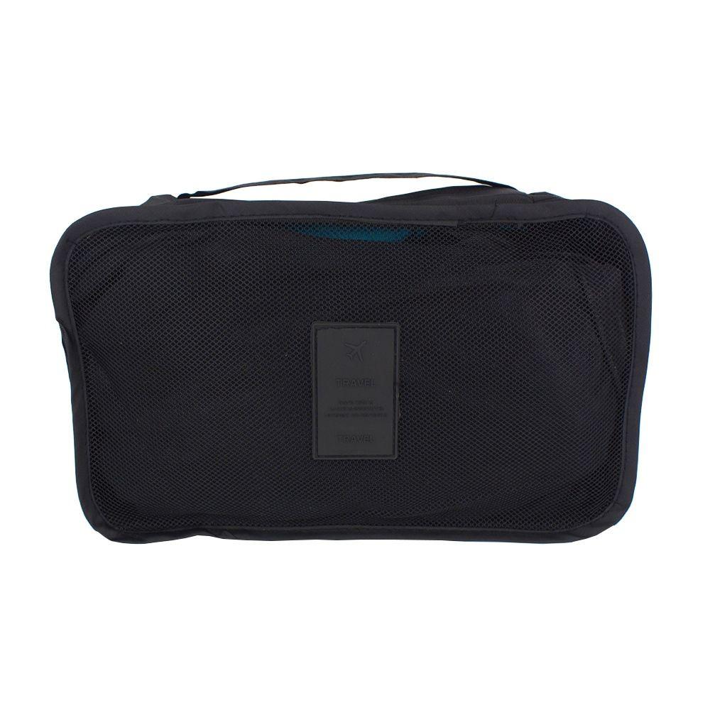 Kit Organizador de Viagem com 04 Peças - Preto  - Shop Ud