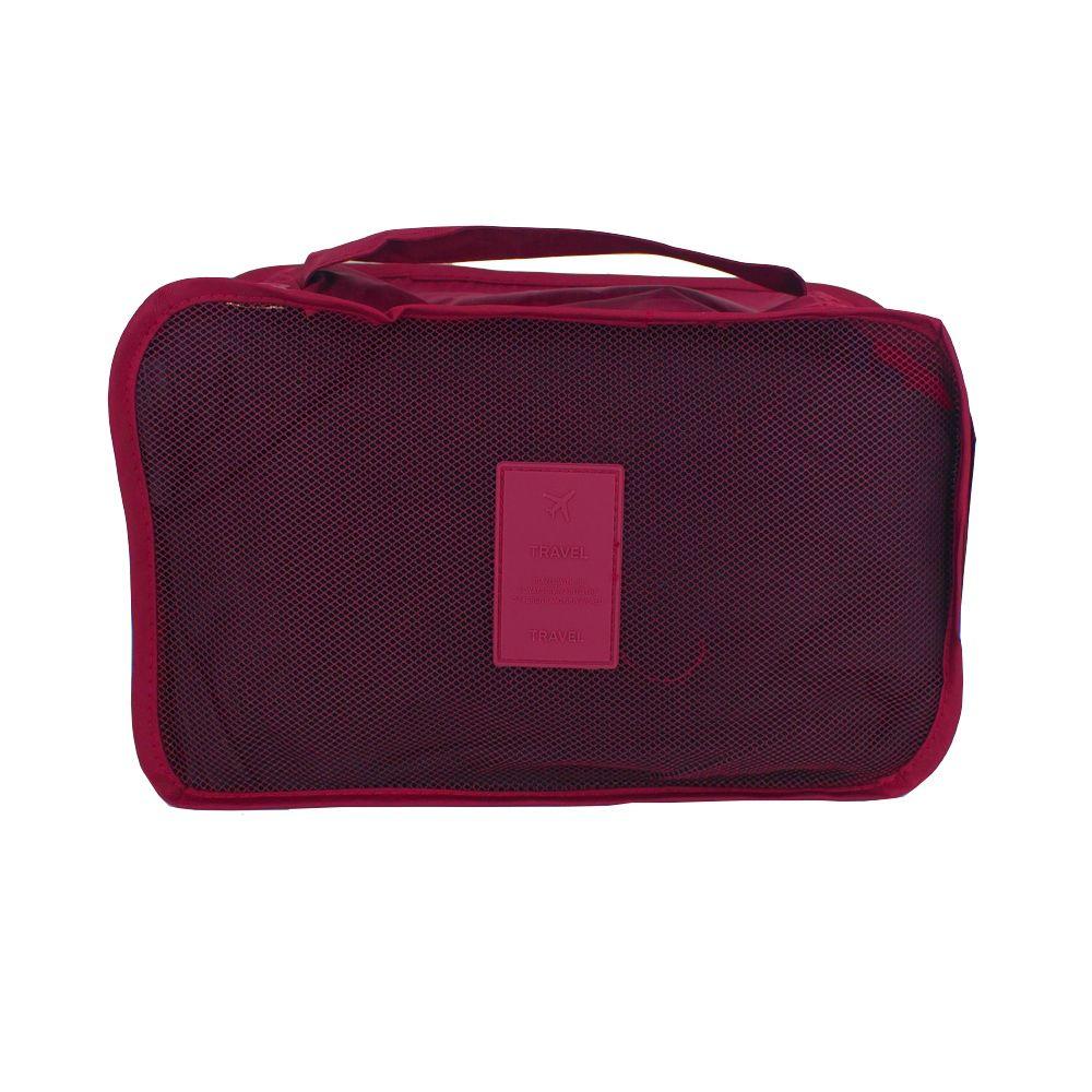 Kit Organizador de Viagem com 04 Peças - Vinho   - Shop Ud