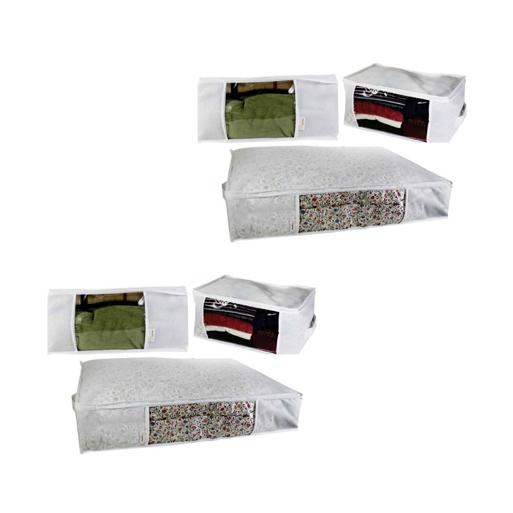 Kit Organizador Multiuso Branco com 6 unidades   - Shop Ud