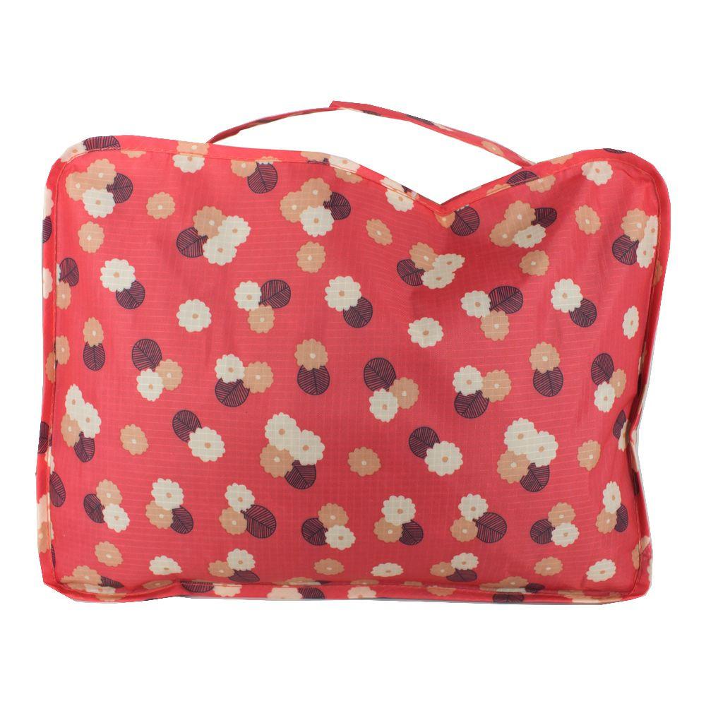 Kit Organizador para Mala Viagem 04 Peças - Rosa com Flores  - Shop Ud