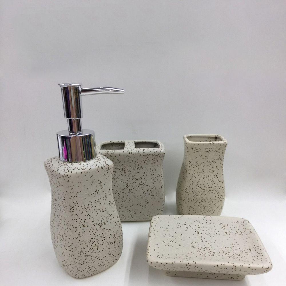 Kit para Banheiro Cerâmica 4 Peças  - Shop Ud