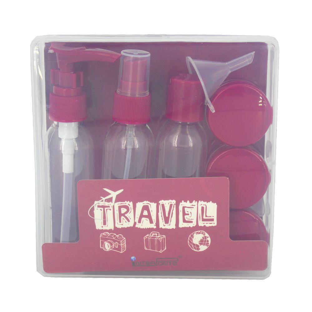 Kit para Viagem Mini Frascos com 9 Peças - Vinho  - Shop Ud