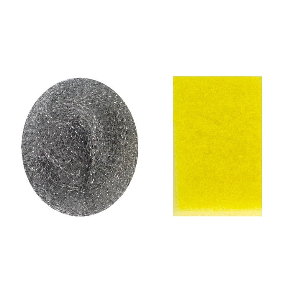 Kit Suporte Pia Silicone Esponja Palha de Aço  Verde  - Shop Ud