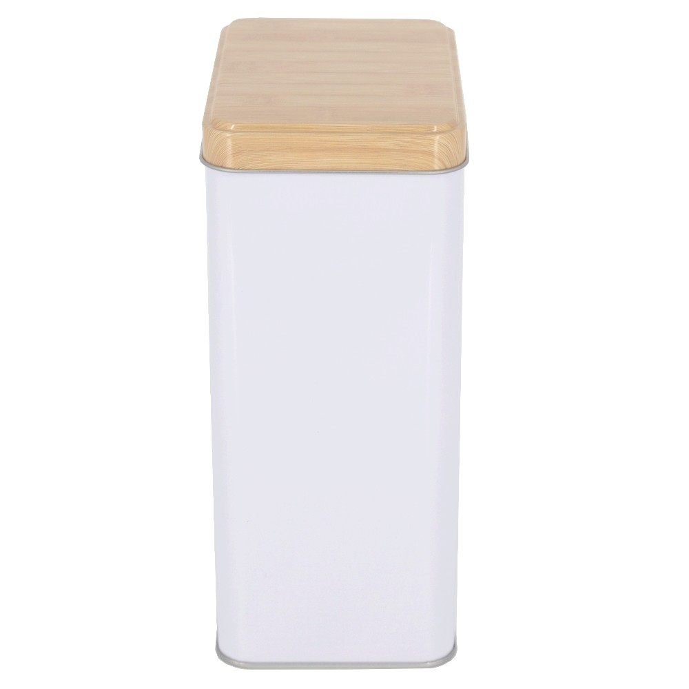 Lata Branca Rústica Quadrada para Açúcar - 19x11,5  - Shop Ud