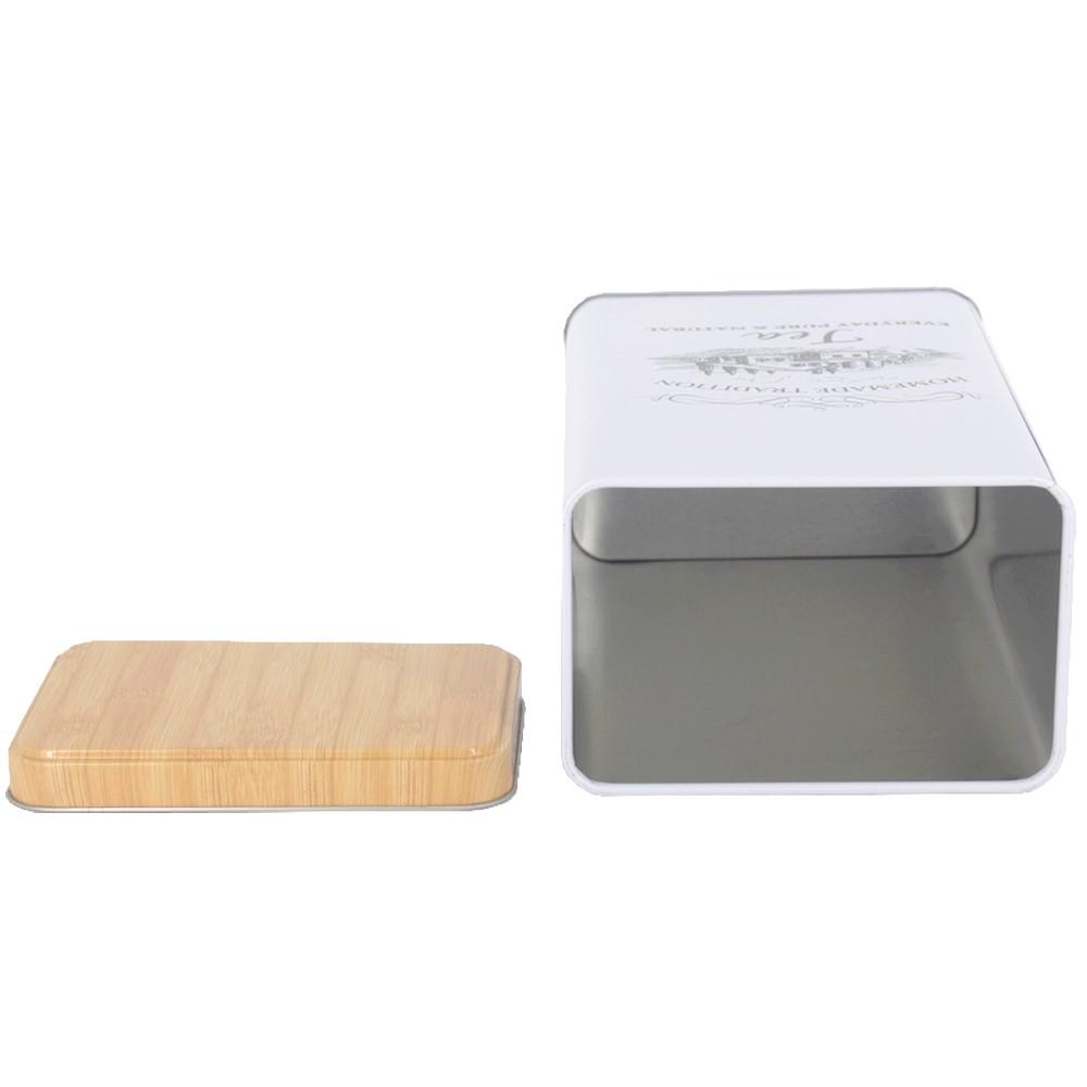 Lata Branca Rústica Quadrada para Chá - 19x11,5  - Shop Ud
