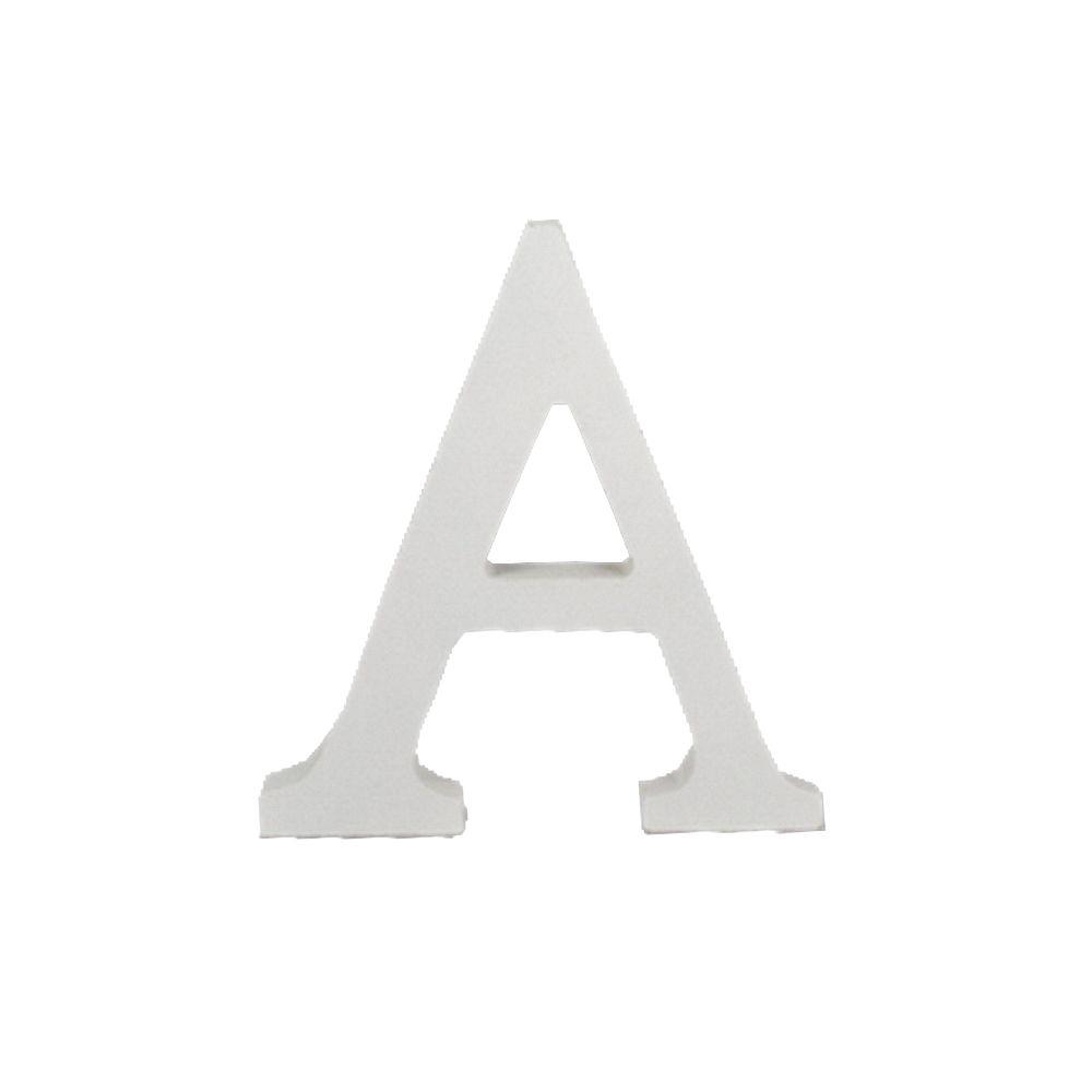 Letra Decorativa em MDF – Letra A (Branca