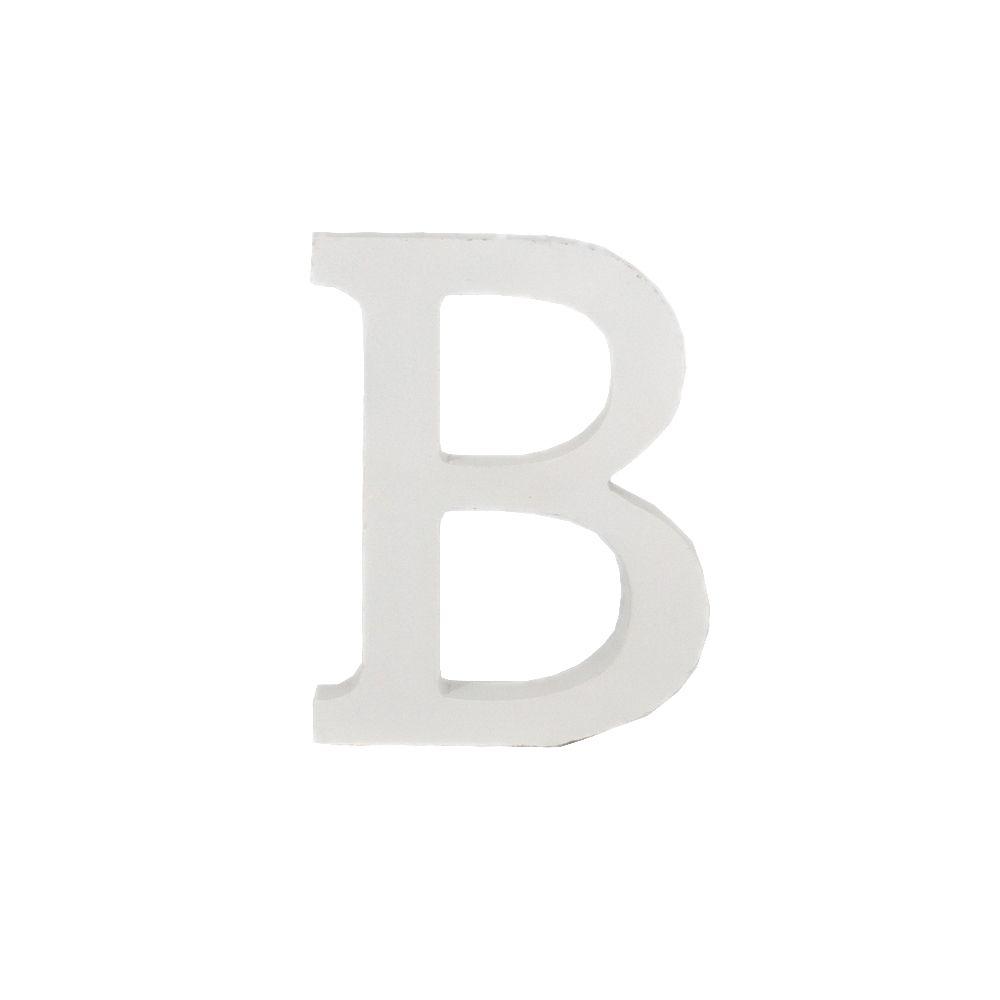 Letra Decorativa em MDF – Letra B (Branca  - Shop Ud