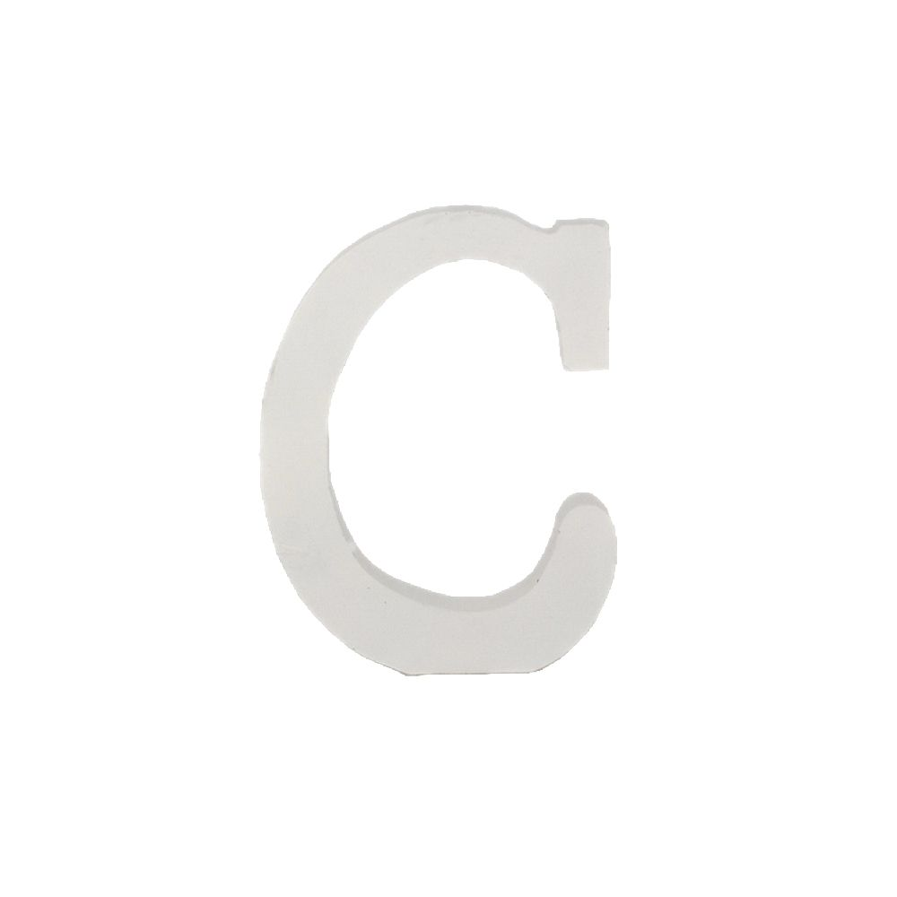 Letra Decorativa em MDF – Letra C (Branca)
