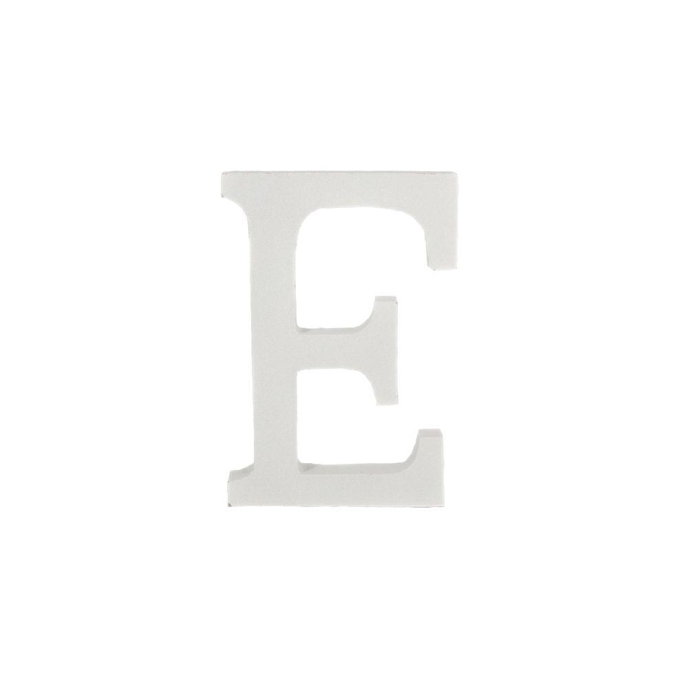Letra Decorativa em MDF – Letra E (Branca)
