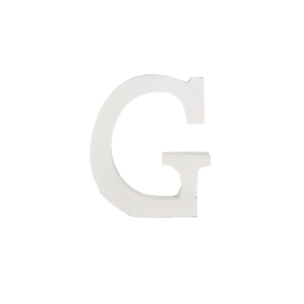 Letra Decorativa em MDF – Letra G (Branca)  - Shop Ud