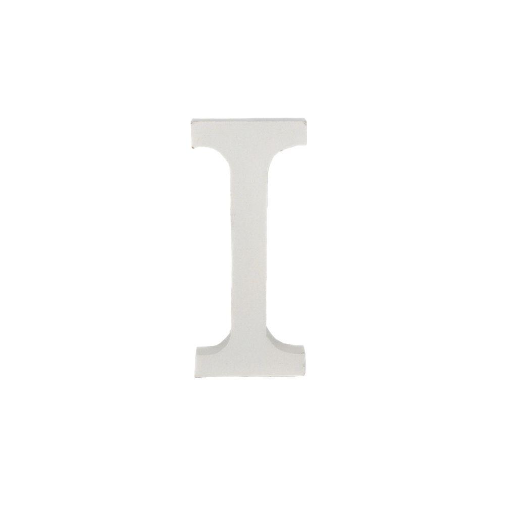 Letra Decorativa em MDF – Letra I (Branca)  - Shop Ud