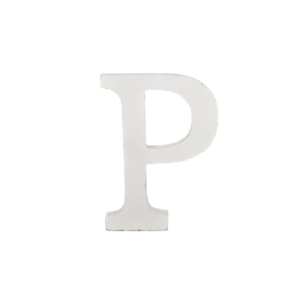 Letra Decorativa em MDF – Letra P (Branca)  - Shop Ud