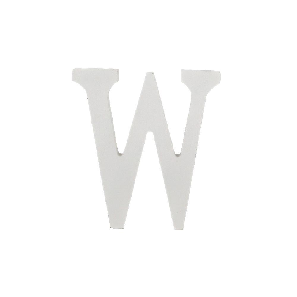 Letra Decorativa em MDF – Letra W (Branca)  - Shop Ud
