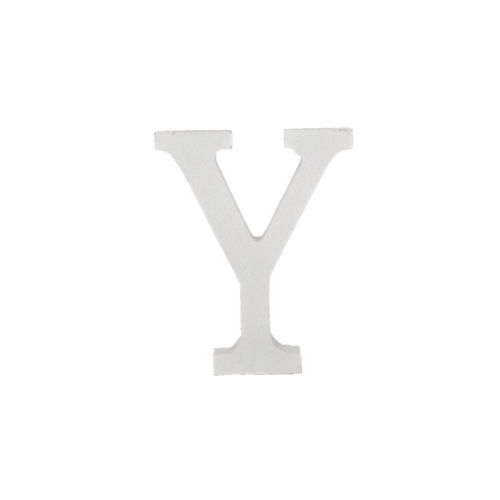 Letra Decorativa em MDF – Letra Y (Branca)  - Shop Ud