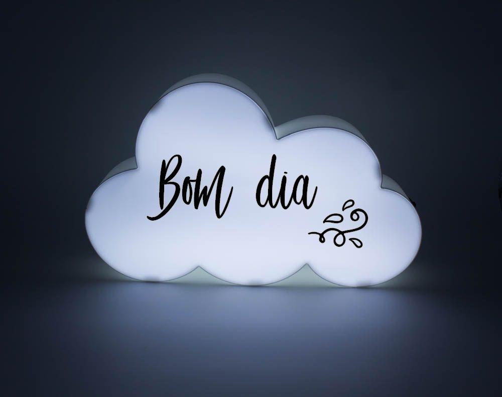Letreiro para Mensagem Luminoso Nuvem - Branca  - Shop Ud