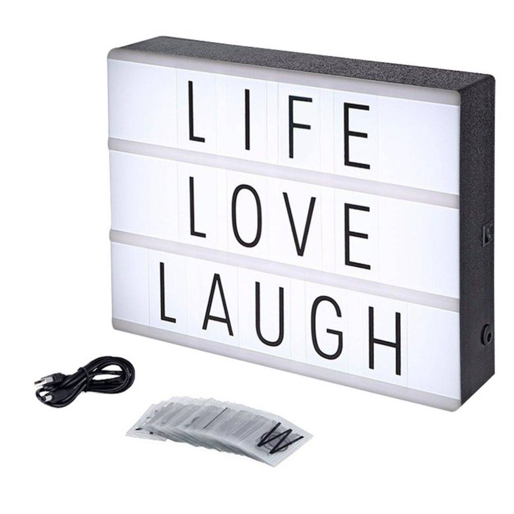 Letreiro Quadro Led Light Box Cinema