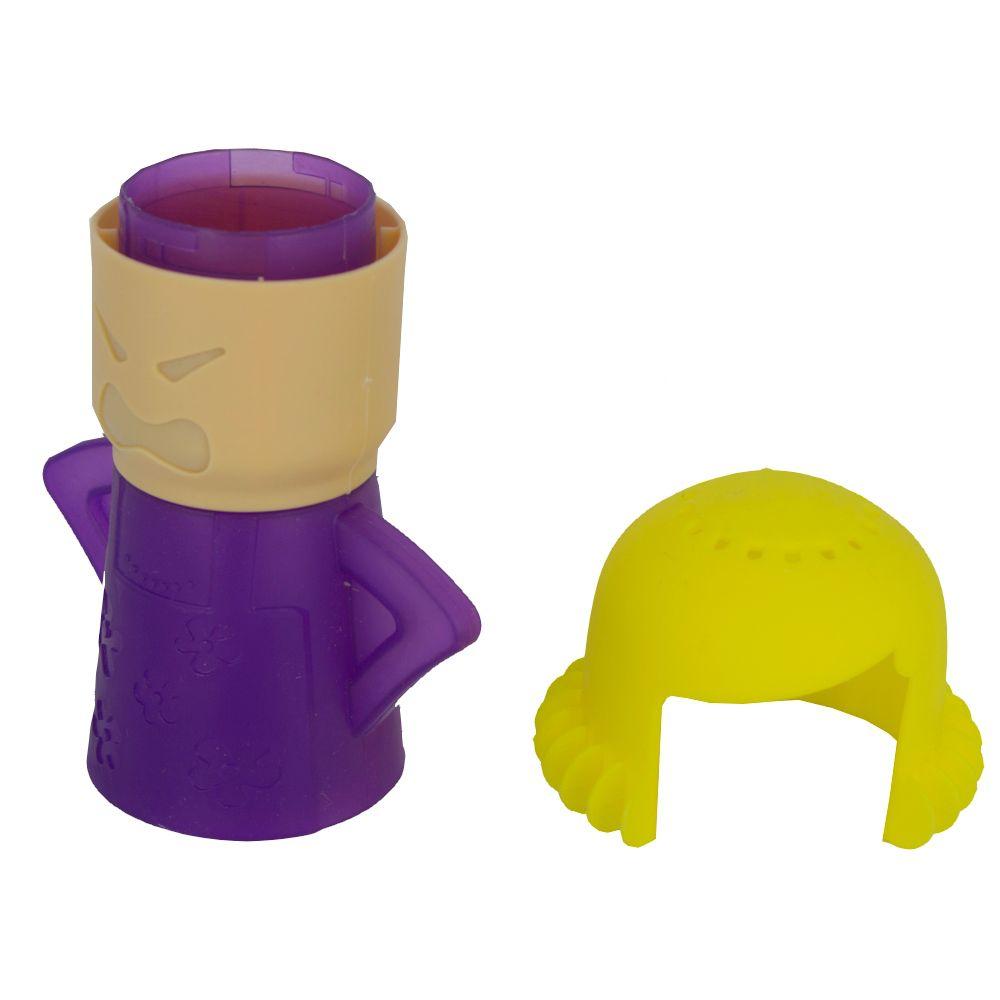 Limpador Micro-ondas à Vapor Angry Mama - Roxa com Amarelo  - Shop Ud