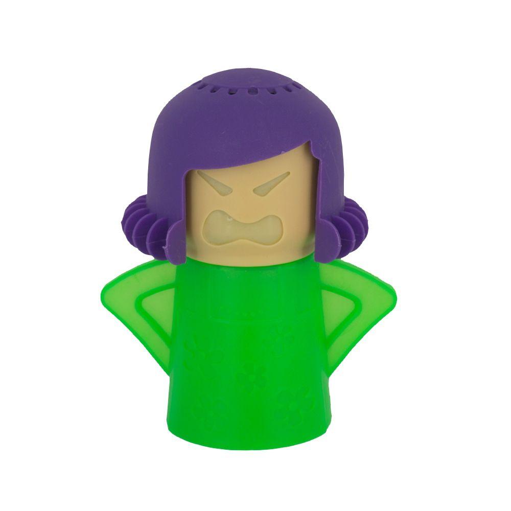 Limpador para Micro-ondas à Vapor Angry Mama Verde com Roxo