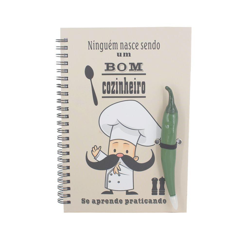 Livro Receitas Caneta Pimenta Verde Ninguém Nasce Sabendo...