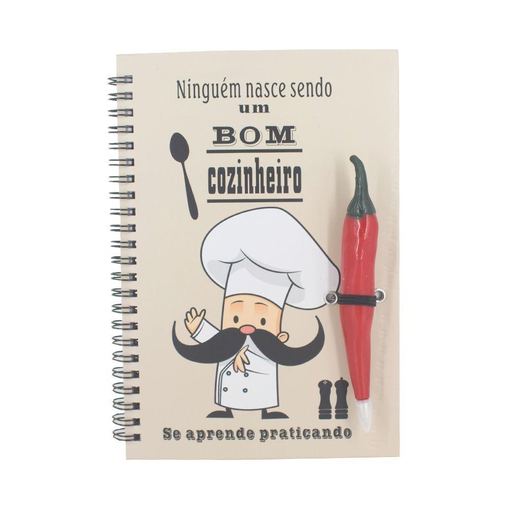 Livro Receitas Caneta Pimenta Vermelha Ninguém Nasce...