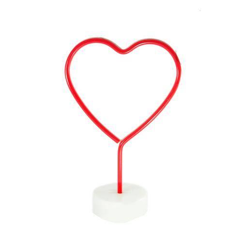 Luminária Abajur Coração Neon Led  - Shop Ud