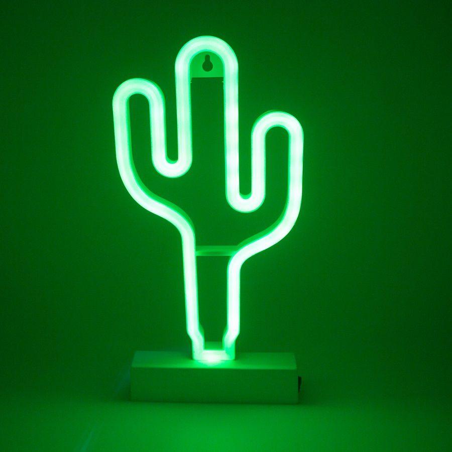 Luminaria Cacto Em Neon Led