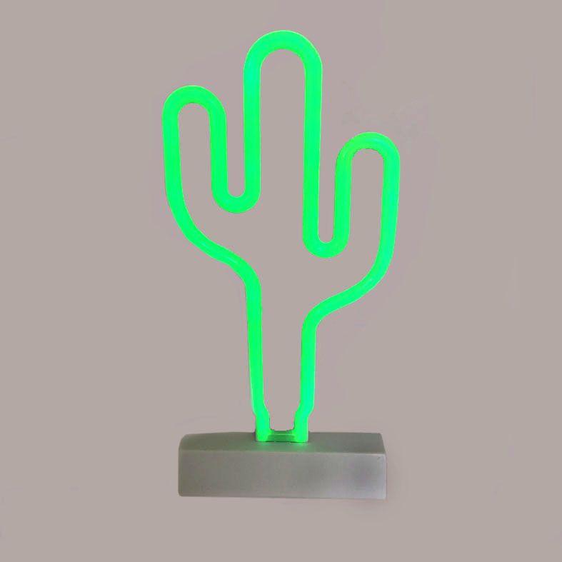 Luminaria Cacto Em Neon Led  - Shop Ud