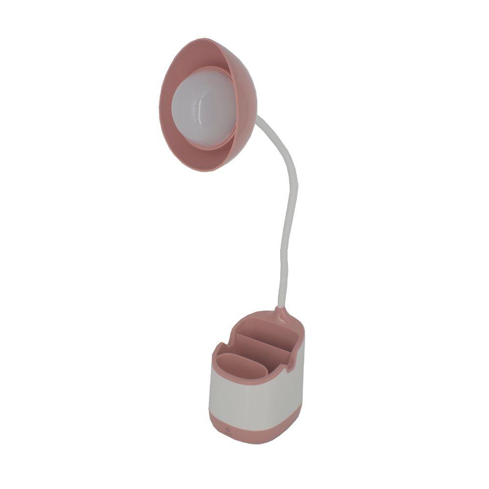 Luminária com Suporte Porta Treco e Cabo Regulável Rosa Nude
