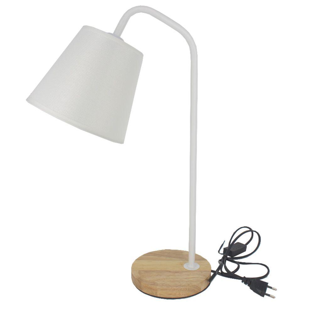 Luminária de Mesa Decorativa Abajur - Branca