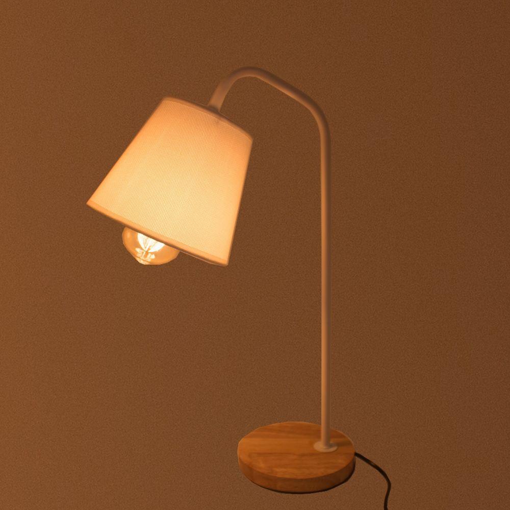 Luminária de Mesa Decorativa Abajur - Branca  - Shop Ud