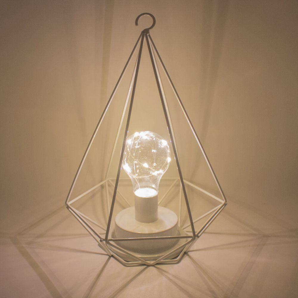 Luminária Decorativa com Gancho para Pendurar - Branca  - Shop Ud