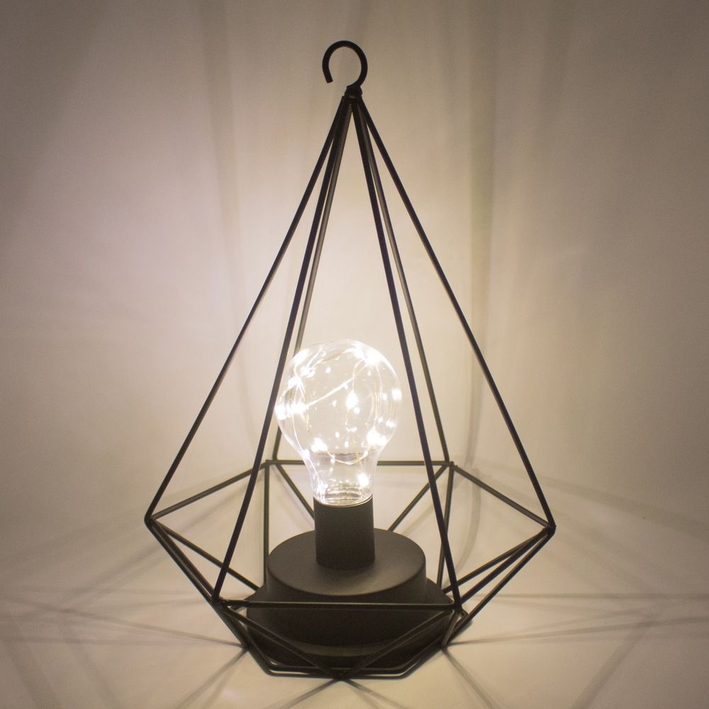 Luminária Decorativa com Gancho para Pendurar - Preta  - Shop Ud