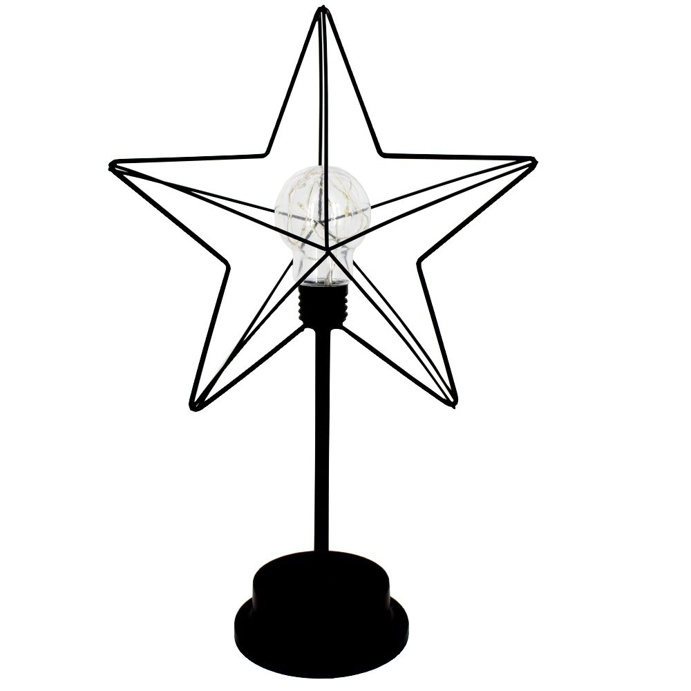 Luminária Decorativa de Mesa - Estrela