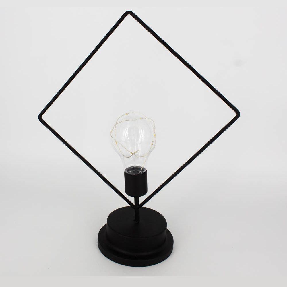 Luminária Decorativa de Mesa - Losango