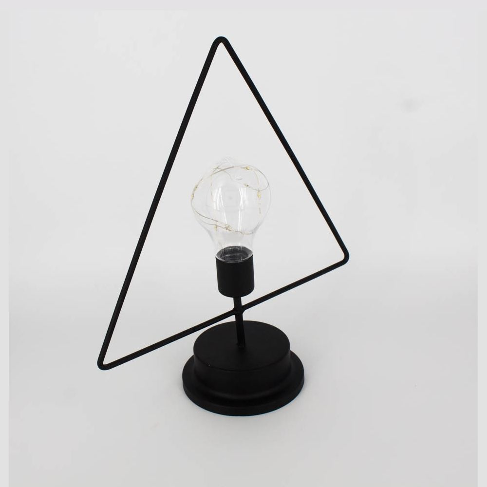 Luminária Decorativa de Mesa - Triângulo