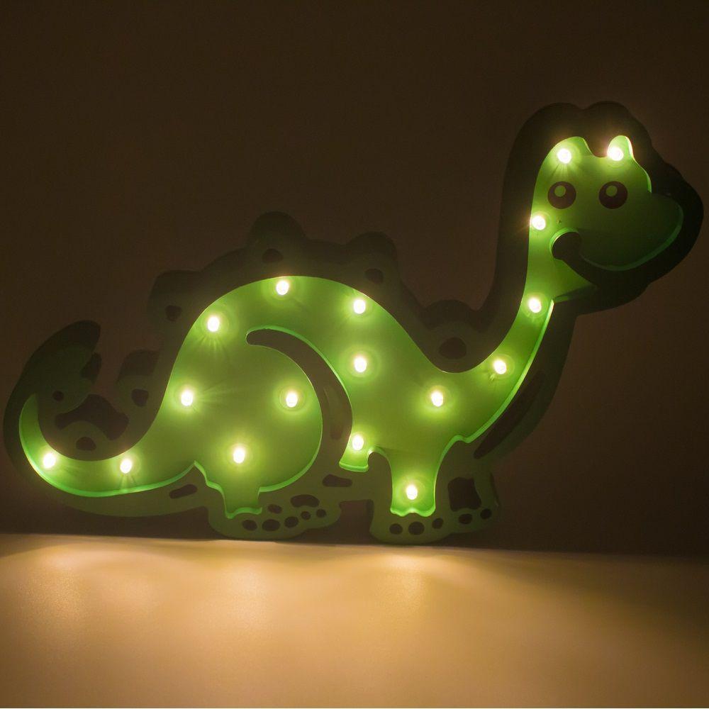 Luminária Dinossauro LED MDF  - Shop Ud