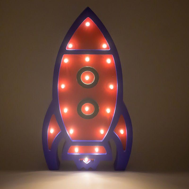Luminária Foguete LED MDF  - Shop Ud
