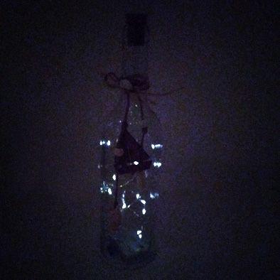 Luminária Led Garrafa Fio de Fada Detalhe Barco  - Shop Ud