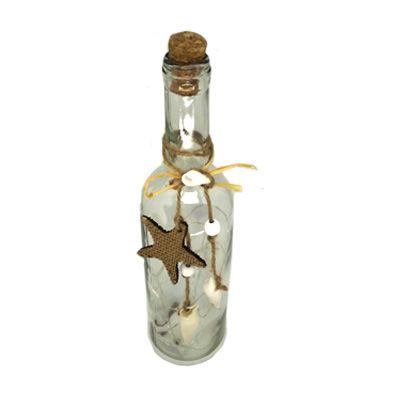 Luminária Led Garrafa com fio de Fada detalhe Estrela do Mar  - Shop Ud