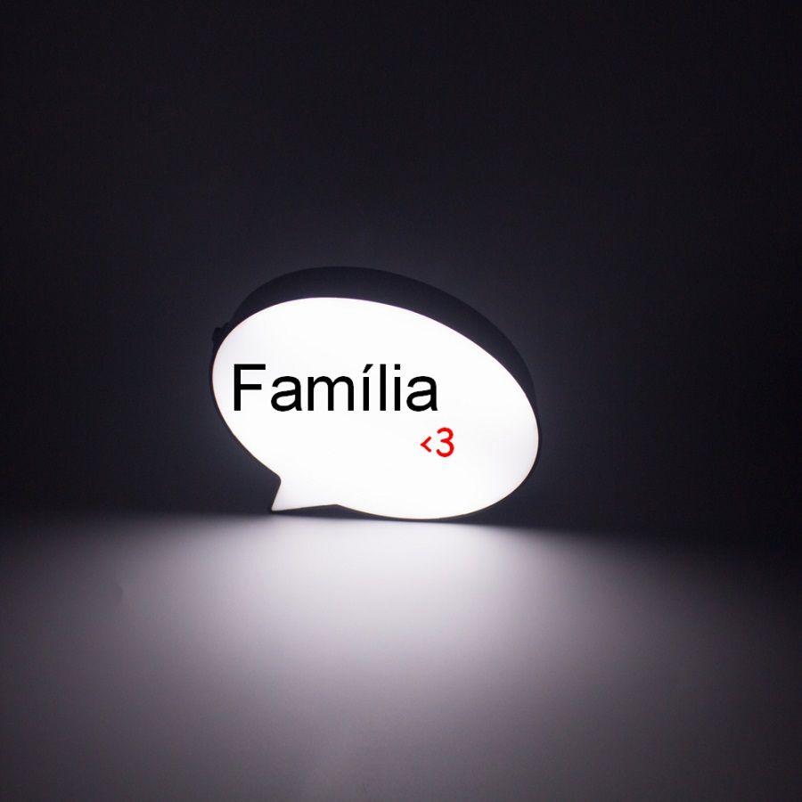 Luminária LED - Pensamento  - Shop Ud