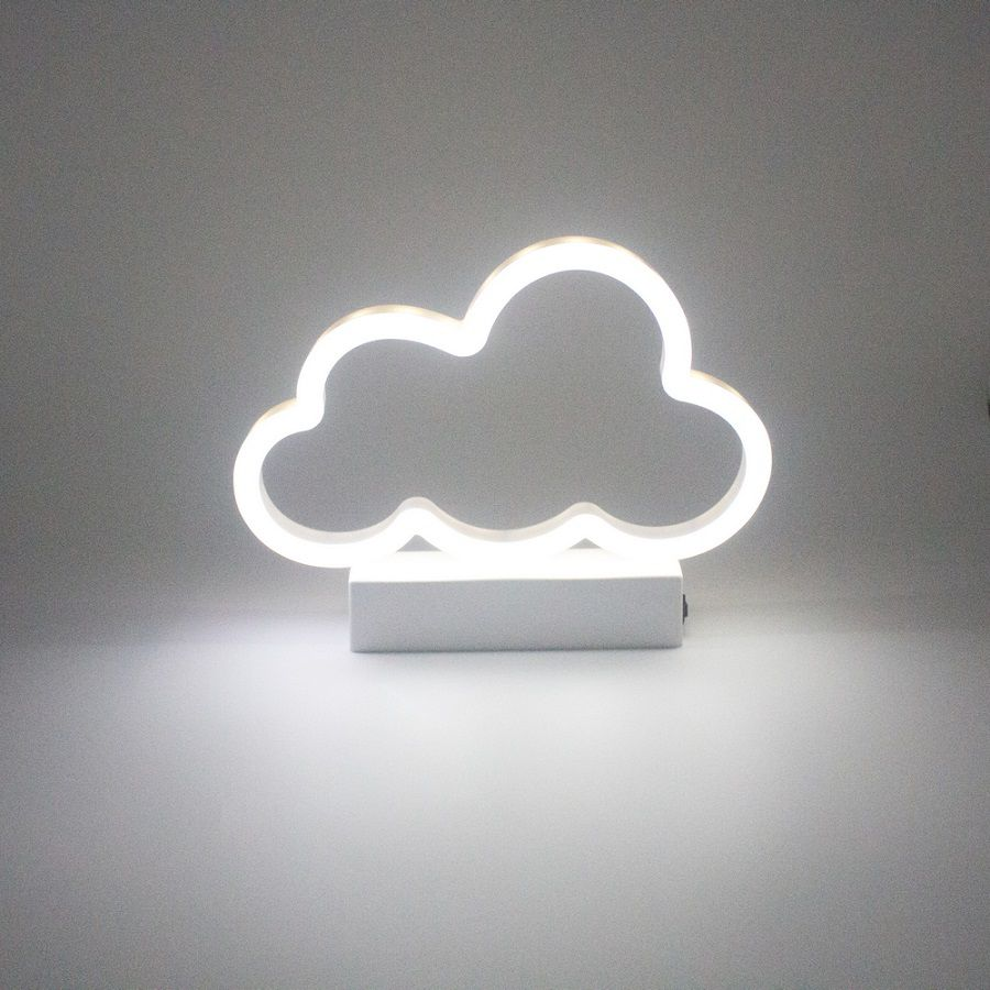 Luminária Nuvem Neon Led Branca  - Shop Ud