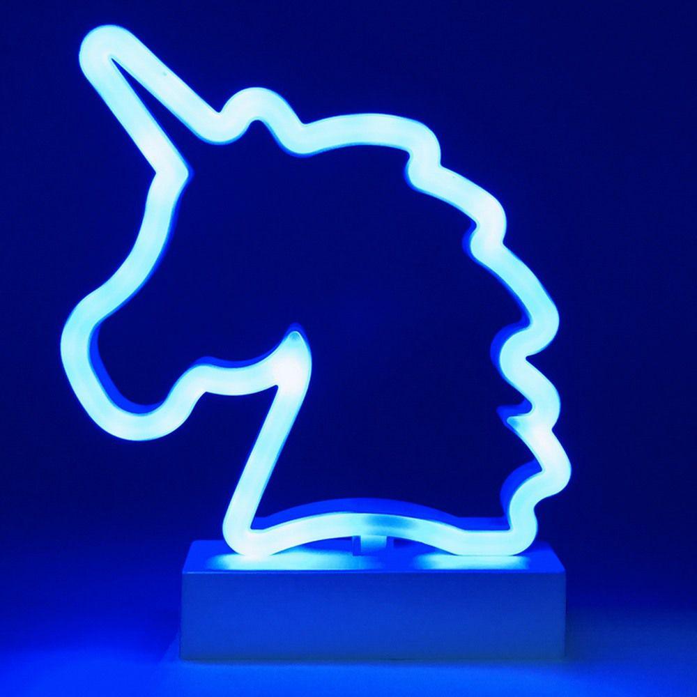 Luminária Unicórnio LED Azul à Pilha  - Shop Ud