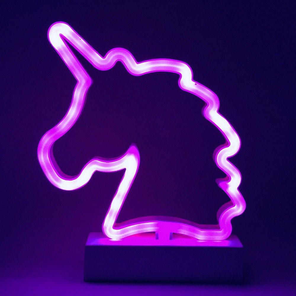 Luminária Unicórnio LED Rosa à Pilha  - Shop Ud