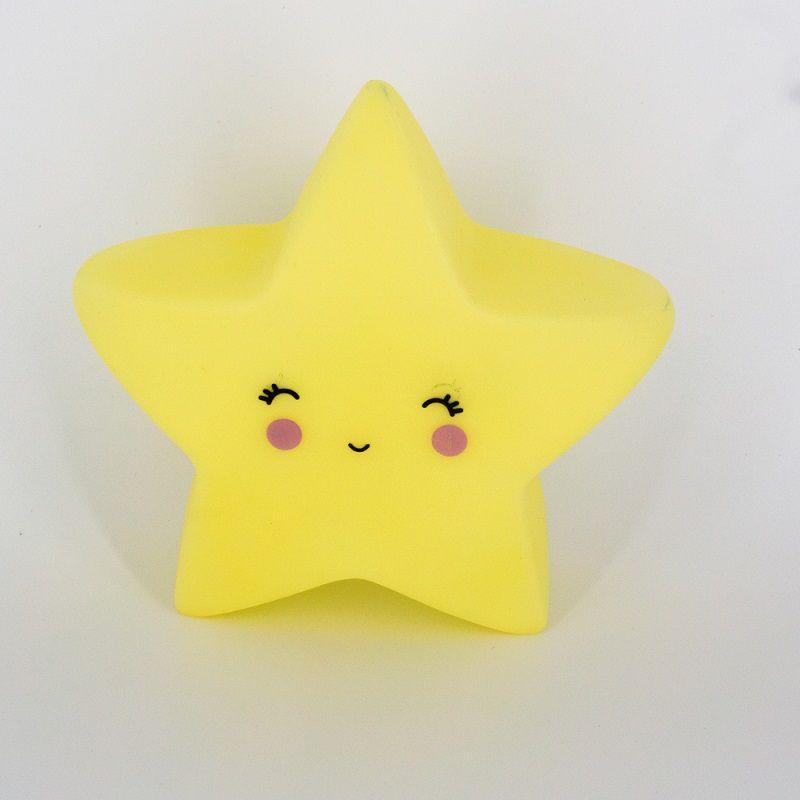 Mini Luminária Estrela Amarela de Led