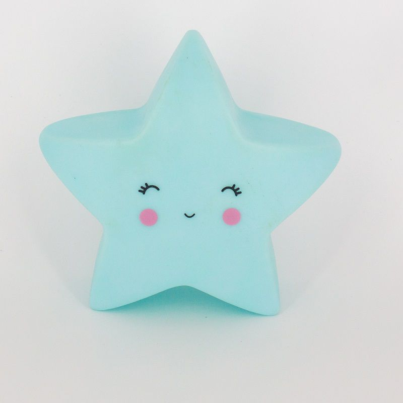 Mini Luminária Estrela Azul de Led